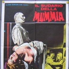 Cine: QE35 THE MUMMY'S SHROUD HAMMER JOHN GILLING POSTER ORIGINAL 100X140 ITALIANO. Lote 17244775