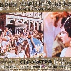 Cine: JX69 CLEOPATRA ELIZABETH TAYLOR ESPECTACULAR SET DE 6 POSTERS ITALIANO 47X68. Lote 15502520