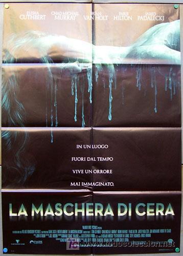 JX73 LA CASA DE CERA JAUME COLLET SERRA PARIS HILTON POSTER ORIGINAL 100X140 ITALIANO (Cine - Posters y Carteles - Aventura)