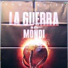 Cine: JX98 LA GUERRA DE LOS MUNDOS STEVEN SPIELBERG TOM CRUISE POSTER ORIGINAL ITALIANO 100X140. Lote 15505013