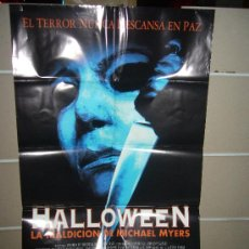 Cine: HALLOWEEN 6 LA MALDICION DE MICHAEL MYERS POSTER ORIGINAL 70X100 ESTRENO. Lote 44781205