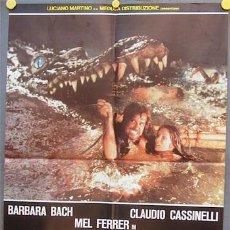 Cine: VE73D CAIMAN SERGIO MARTINO BARBARA BACH POSTER ORIGINAL 68X94 ITALIANO. Lote 15557406