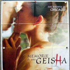 Cine: JY35 MEMORIAS DE UNA GEISHA ROB MARSHALL POSTER ORIGINAL ITALIANO 140X200. Lote 15558143