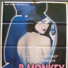 Cine: JY43 B. MONKEY ASIA ARGENTO SEXY POSTER ORIGINAL 100X140 ITALIANO. Lote 15559344