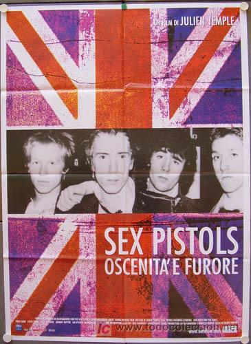 QL93 THE FILTH AND THE FURY SEX PISTOLS JULIEN TEMPLE JOHNNY ROTTEN POSTER ORIGINAL ITALIANO 100X140 (Cine - Posters y Carteles - Musicales)