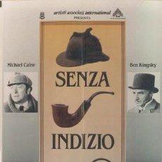 Cine: QM61 SHERLOCK HOLMES SIN PISTAS MICHAEL CAINE POSTER ORIGINAL ITALIANO 100X140. Lote 15575456