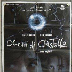 Cine: JY83 OJOS DE CRISTAL LUCIA JIMENEZ CARMELO GOMEZ GIALLO POSTER ORIGINAL ITALIANO 100X140. Lote 15577464