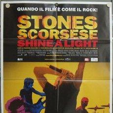 Cine: JY86 SHINE A LIGHT THE ROLLING STONES MARTIN SCORSESE POSTER ORIGINAL ITALIANO 100X140. Lote 15577889