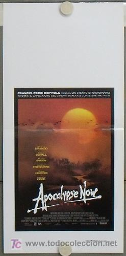JY95 APOCALYPSE NOW REDUX COPPOLA MARLON BRANDO POSTER ORIGINAL ITALIANO 33X70 (Cine - Posters y Carteles - Bélicas)