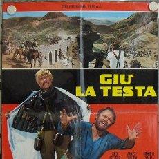 Cine: JZ93 AGACHATE MALDITO SERGIO LEONE POSTER ORIGINAL ITALIANO 68X94 A. Lote 15608357