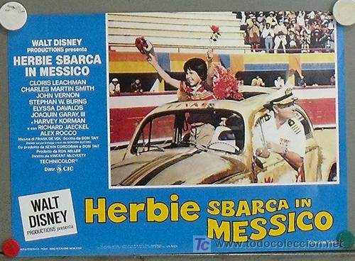 QA53 HERBIE TORERO WALT DISNEY AUTOMOVILISMO VOLKSWAGEN TOROS SET 8 POSTER ORIGINAL ITALIANO 32X45 (Cine - Posters y Carteles - Infantil)