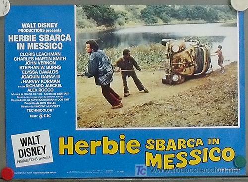 Cine: QA53 HERBIE TORERO WALT DISNEY AUTOMOVILISMO VOLKSWAGEN TOROS SET 8 POSTER ORIGINAL ITALIANO 32X45 - Foto 2 - 15610083