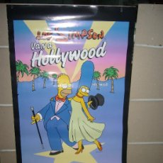 Cine: LOS SIMPSON VAN A HOLLYWOOD POSTER ORIGINAL 70X100 DEL ESTRENO EN VIDEO EN 1999. Lote 30714134