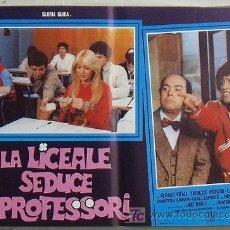 Cine: VG00D LA COLEGIALA SEDUCE A LOS PROFESORES GLORIA GUIDA POSTER ORIGINAL ITALIANO 47X68. Lote 15621257