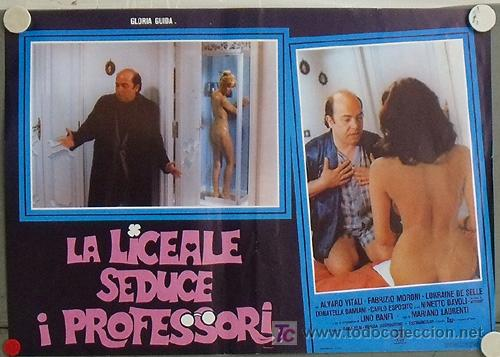 VG04D LA COLEGIALA SEDUCE A LOS PROFESORES GLORIA GUIDA SEXY DESNUDA POSTER ORIGINAL ITALIANO 47X68 (Cine - Posters y Carteles - Comedia)