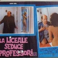 Cine: VG04D LA COLEGIALA SEDUCE A LOS PROFESORES GLORIA GUIDA SEXY DESNUDA POSTER ORIGINAL ITALIANO 47X68. Lote 15621277