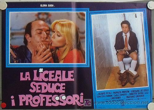 VG02D LA COLEGIALA SEDUCE A LOS PROFESORES GLORIA GUIDA POSTER ORIGINAL ITALIANO 47X68 (Cine - Posters y Carteles - Comedia)