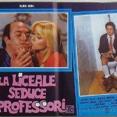 Cine: VG02D LA COLEGIALA SEDUCE A LOS PROFESORES GLORIA GUIDA POSTER ORIGINAL ITALIANO 47X68. Lote 15621311