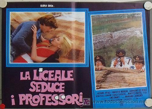 XW00D LA COLEGIALA SEDUCE A LOS PROFESORES GLORIA GUIDA POSTER ORIGINAL ITALIANO 47X68 (Cine - Posters y Carteles - Comedia)