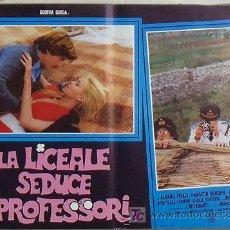 Cine: XW00D LA COLEGIALA SEDUCE A LOS PROFESORES GLORIA GUIDA POSTER ORIGINAL ITALIANO 47X68. Lote 15621327