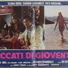 Cine: VG05D PECADOS DE JUVENTUD GLORIA GUIDA SEXY POSTER ORIGINAL ITALIANO 47X68. Lote 15621390