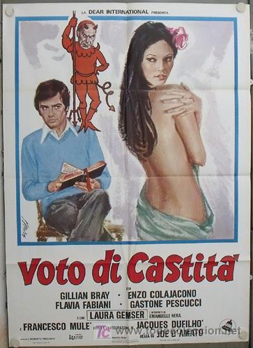 KA33D VOTO DI CASTITA LAURA GEMSER JOE D'AMATO POSTER ORIGINAL ITALIANO 100X140 (Cine - Posters y Carteles - Comedia)