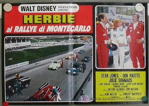 QB23 HERBIE EN EL GRAND PRIX DE MONTECARLO AUTOMOVILISMO VOLKSWAGEN SET 8 POSTERS ITALIANO 47X68 (Cine - Posters y Carteles - Infantil)