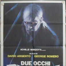 Cine: KA61 LOS OJOS DEL DIABLO GEORGE ROMERO DARIO ARGENTO POSTER ORIGINAL 100X140 ITALIANO. Lote 15625165