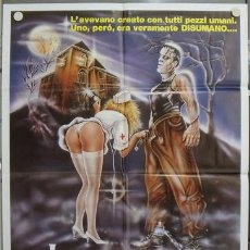 Cine: KA87 FRANKENSTEIN GENERAL HOSPITAL POSTER ORIGINAL 100X140 ITALIANO. Lote 15627116