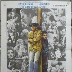 Cine: QB31D COWBOY DE MEDIANOCHE DUSTIN HOFFMAN JOHN VOIGHT POSTER ORIGINAL 100X140 ITALIANO. Lote 20028565