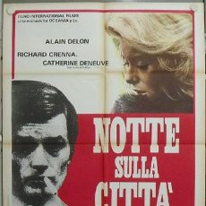 Cine: YG59D CRONICA NEGRA ALAIN DELON JEAN-PIERRE MELVILLE POSTER ORIGINAL 100X140 ITALIANO. Lote 15627758