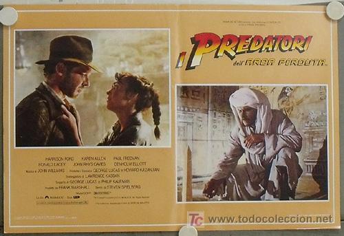 KB09 EN BUSCA DEL ARCA PERDIDA HARRISON FORD SPIELBERG SET DE 4 POSTERS ORIGINAL ITALIANO 47X68 (Cine - Posters y Carteles - Aventura)
