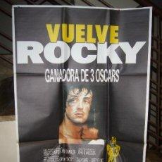 Cine: VUELVE ROCKY SYLVESTER STALLONE POSTER ORIGINAL 70X100. Lote 293772343