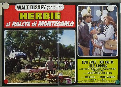 Cine: QB23 HERBIE EN EL GRAND PRIX DE MONTECARLO AUTOMOVILISMO VOLKSWAGEN SET 8 POSTERS ITALIANO 47X68 - Foto 6 - 15623511