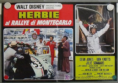 Cine: QB23 HERBIE EN EL GRAND PRIX DE MONTECARLO AUTOMOVILISMO VOLKSWAGEN SET 8 POSTERS ITALIANO 47X68 - Foto 4 - 15623511