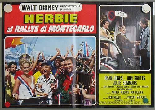 Cine: QB23 HERBIE EN EL GRAND PRIX DE MONTECARLO AUTOMOVILISMO VOLKSWAGEN SET 8 POSTERS ITALIANO 47X68 - Foto 7 - 15623511