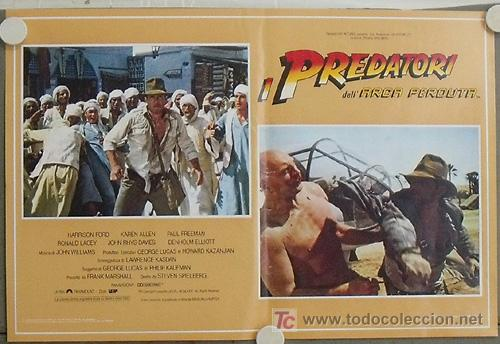 Cine: KB09 EN BUSCA DEL ARCA PERDIDA HARRISON FORD SPIELBERG SET DE 4 POSTERS ORIGINAL ITALIANO 47X68 - Foto 2 - 15628274