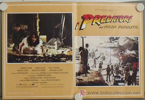 Cine: KB09 EN BUSCA DEL ARCA PERDIDA HARRISON FORD SPIELBERG SET DE 4 POSTERS ORIGINAL ITALIANO 47X68 - Foto 4 - 15628274
