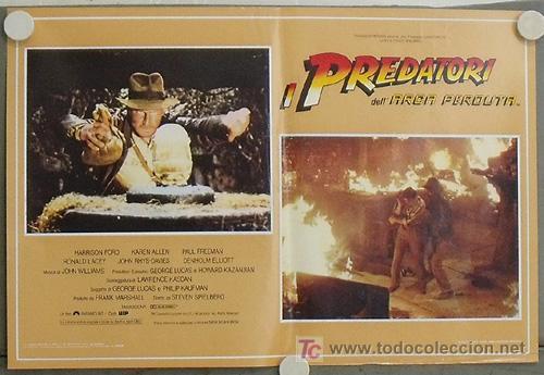 Cine: KB09 EN BUSCA DEL ARCA PERDIDA HARRISON FORD SPIELBERG SET DE 4 POSTERS ORIGINAL ITALIANO 47X68 - Foto 3 - 15628274
