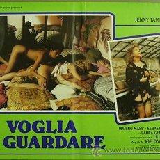Cine: QO92 VOGLIA DI GUARDARE JOE D'AMATO LILLI CARATI LAURA GEMSER SET 6 POSTERS ORIGINAL ITALIANO 47X68. Lote 15642733