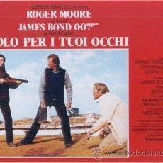 Cine: HP18 SOLO PARA SUS OJOS JAMES BOND 007 ROGER MOORE SET COMPLETO 8 POSTERS ORIGINALES ITALIANOS 33X46. Lote 15644023
