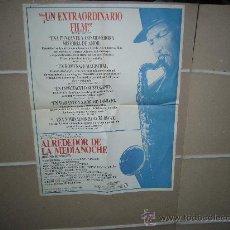 Cinema: ALREDEDOR DE LA MEDIANOCHE BERTRAN TAVERNIER POSTER ORIGINAL TAMAÑO ESPECIAL 68X50 DEL ESTRENO. Lote 17905708