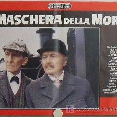 Cine: KB52 SHERLOCK HOLMES LA MASCARA DE LA MUERTE PETER CUSHING SET 6 POSTER ORIGINAL ITALIANO 47X68. Lote 15729547