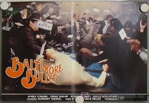 Cine: KB48 BALTIMORE BULLET JAMES COBURN BILLAR SET 10 POSTER ORIGINAL ITALIANO 47X68 - Foto 6 - 15729660
