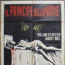 Cine: KC46 DEVILS OF DARKNESS LANCE COMFORT VAMPIROS CULT POSTER ORIGINAL ITALIANO 100X140. Lote 15750617