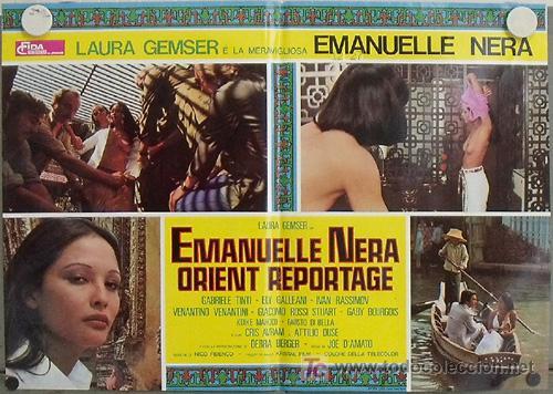 VF46D EMANUELLE NEGRA SE VA A ORIENTE LAURA GEMSER JOE D'AMATO POSTER ORIGINAL ITALIANO 47X68 (Cine- Posters y Carteles - Drama)