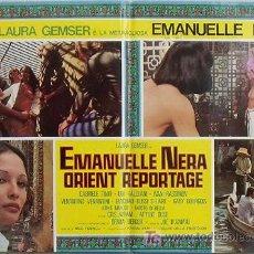 Cine: VF46D EMANUELLE NEGRA SE VA A ORIENTE LAURA GEMSER JOE D'AMATO POSTER ORIGINAL ITALIANO 47X68. Lote 15751325