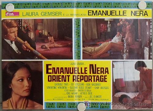 VF49D EMANUELLE NEGRA SE VA A ORIENTE LAURA GEMSER JOE D'AMATO POSTER ORIGINAL ITALIANO 47X68 (Cine- Posters y Carteles - Drama)