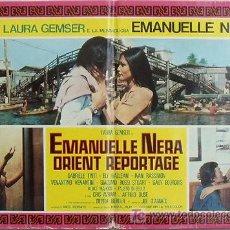Cine: VF47D EMANUELLE NEGRA SE VA A ORIENTE LAURA GEMSER JOE D'AMATO POSTER ORIGINAL ITALIANO 47X68. Lote 15751369