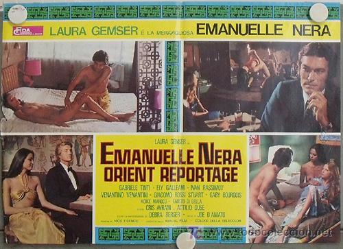 VF48D EMANUELLE NEGRA SE VA A ORIENTE LAURA GEMSER JOE D'AMATO POSTER ORIGINAL ITALIANO 47X68 (Cine- Posters y Carteles - Drama)